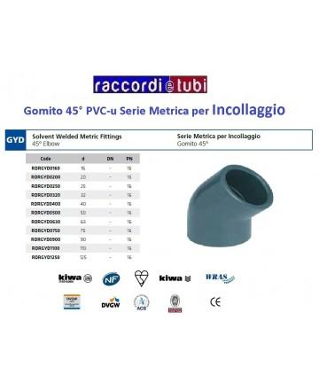GOMITO PVC INCOLLAGGIO...