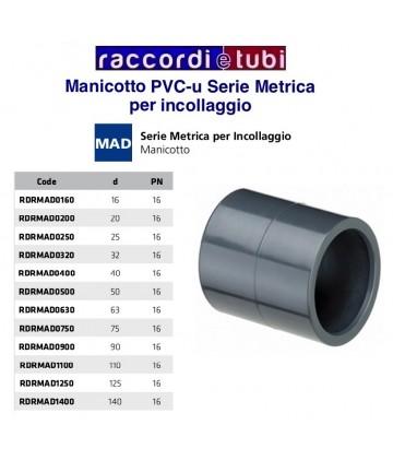 MANICOTTO PVC INCOLLAGGIO D.25