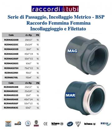 "CODOLO FEMMINA PVC INC.90X3"""