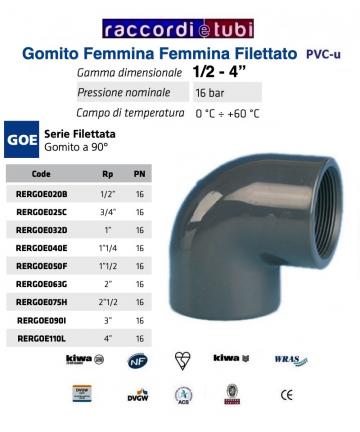 GOMITO PVC DIAMETRO 1.1/2