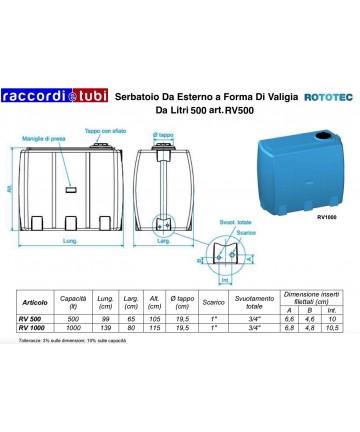 SERBATOIO VALIGIA 500 RV500...