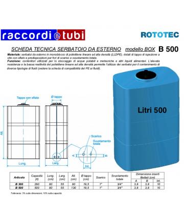 SERBATOIO BOX LT.500 B-500...