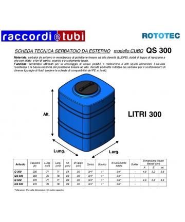 SERBATOIO CUBO LT.300 Q300...
