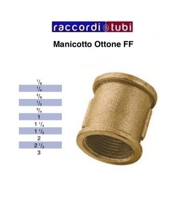 """MANICOTTO OTTONE FILETTO FF 1"""""""