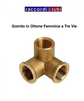GOMITO IN OTTONE A TRE VIE...