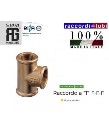 TE OTTONE FILETTO CONICO 2.1/2