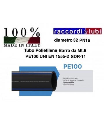 TUBO IN BARRA PE100 D.32...