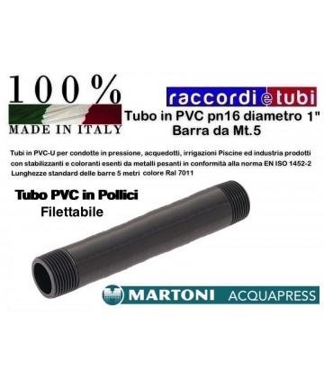 "TUBO PVC D.1"" PN/16 BARRA..."