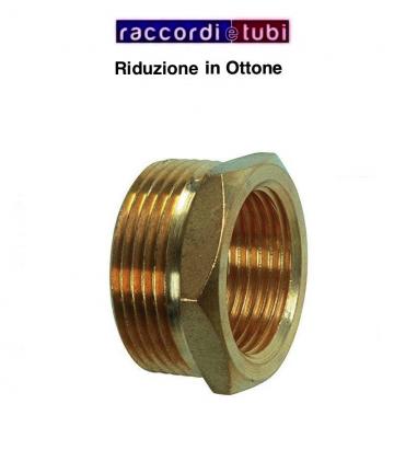 "RIDUZIONE OTTONE 1""X3/8"