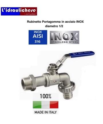 RUBINETTO PORTAG.INOX 1/2...