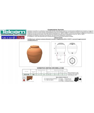 TELCOM CISTERNA ORCIO LT.500