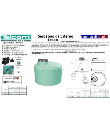 TELCOM SERBATOIO PN 200