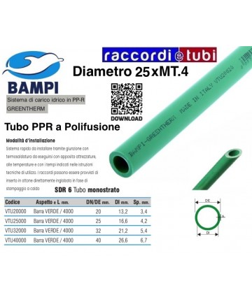 TUBO PP-R SDR6 GREENTHERM...